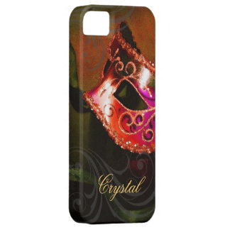 Midnight Masquerade Red Fantasy Iphone Five Case Barely There iPhone 5 Case