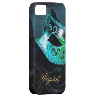 Midnight Masquerade Teal Fantasy Iphone Five Case iPhone 5 Covers