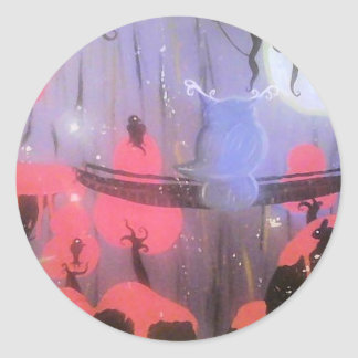 Midnight Meeting Round Sticker