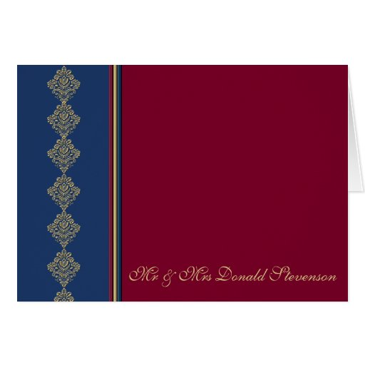 Midnight Merlot Thank You Greeting Card