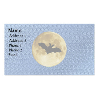 Midnight Moon Pack Of Standard Business Cards