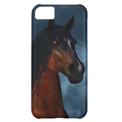 """Midnight Moon"" Pinto Horse Portrait iPhone 5 Case"