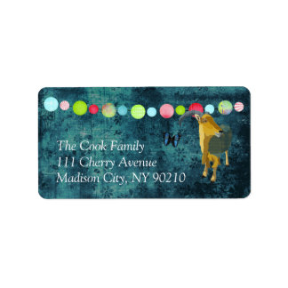 Midnight Moonlight Aoudad Label Address Label