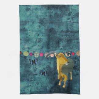 Midnight Moonlight Aoudad Mojo Kitchen Towel
