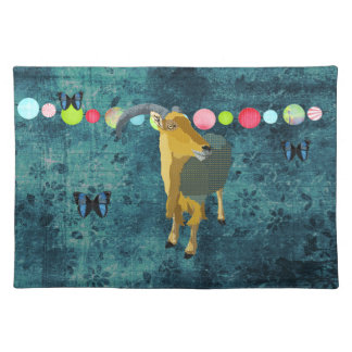 Midnight Moonlight Aoudad Placemat