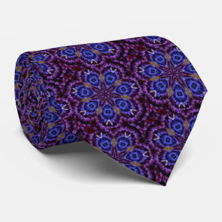 Midnight Mosaic Purple and Blue Tie