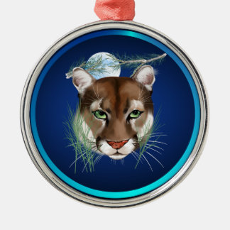 Midnight Mountain Lion Ornament