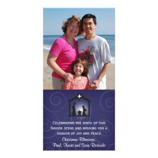 Midnight Nativity Christmas Photo Card