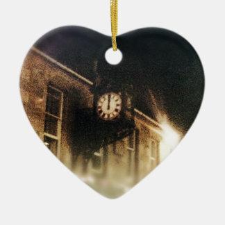 Midnight on Hogmanay Ceramic Heart Decoration
