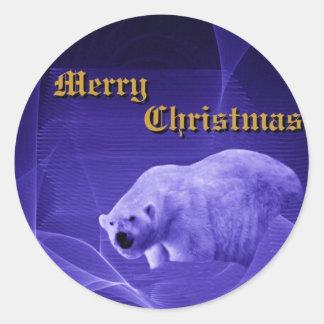 Midnight On The Tundra Round Sticker