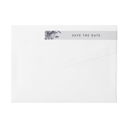 Midnight Orchid Save the Date Return Address Wrap