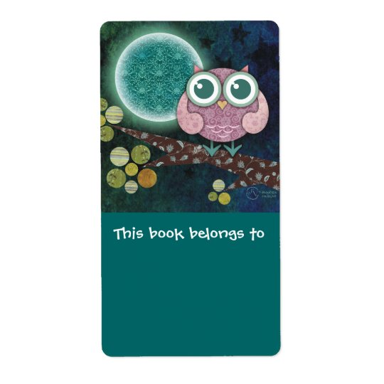 Midnight Owl Bookplates Labels