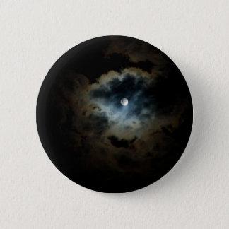 midnight pearl 6 cm round badge