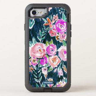 Midnight Profusion Dark Rose Floral OtterBox Defender iPhone 7 Case