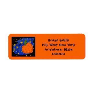 Midnight Pumpkin Mailing Label Return Address Label