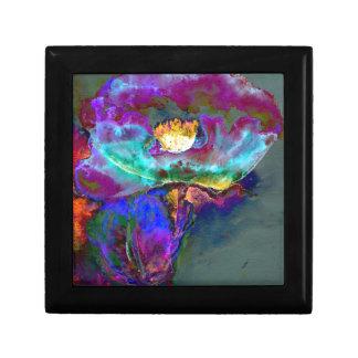 Midnight Purple Poppy Small Square Gift Box