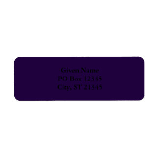 Midnight Purple Return Address Label