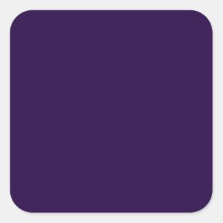 Midnight Purple Square Stickers