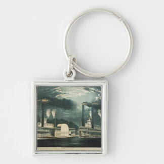 Midnight Race on the Mississippi, 1875 Key Ring