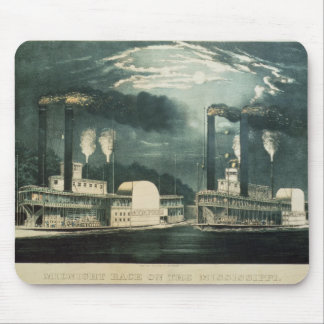 Midnight Race on the Mississippi, 1875 Mouse Mat