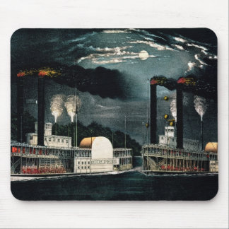 Midnight Race on the Mississippi Mouse Mat
