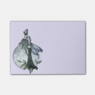 Midnight Rose Fairy Post-it Notes
