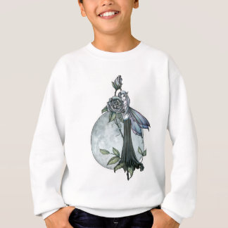 Midnight Rose Gothic Fairy Moon Sweatshirt
