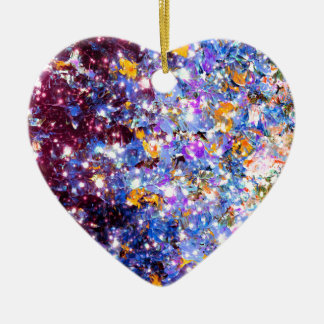 MIDNIGHT SERENADE Blue Purple Stars Sparkle Ombre Christmas Ornament