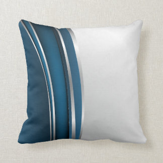Midnight Silver American MoJo Pillow