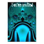 Midnight Skullcap Fractal 13 Cm X 18 Cm Invitation Card