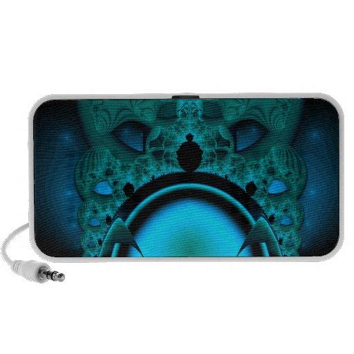 Midnight Skullcap Fractal Laptop Speakers