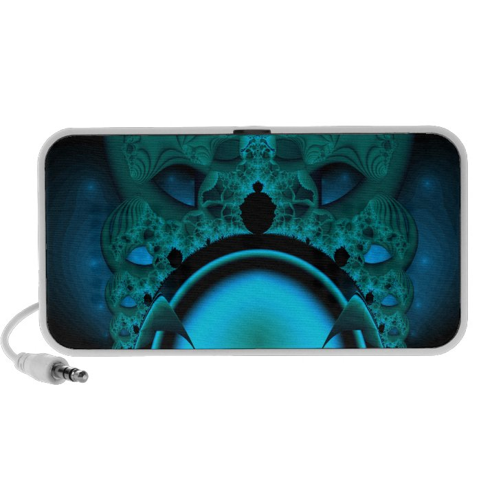 Midnight Skullcap Fractal Laptop Speakers