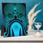 Midnight Skullcap Fractal Photo Plaques