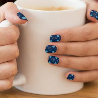 Midnight, Sky Blue, Tan, Volleyball Chevron Minx Nail Art