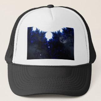 midnight sky trucker hat
