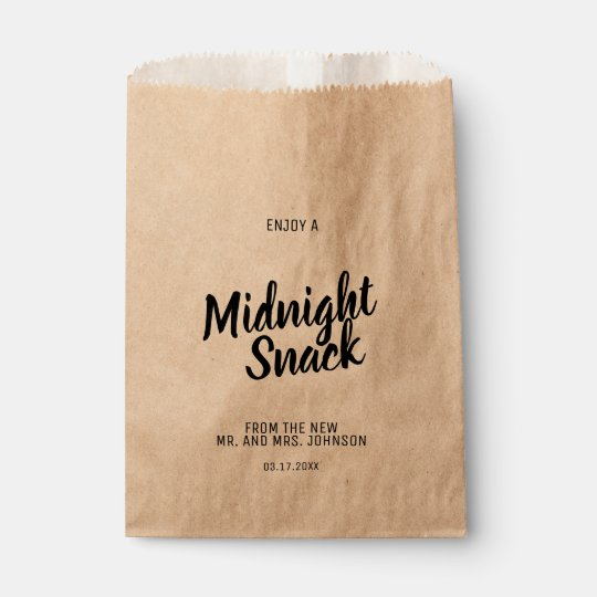 Midnight Snack Craft Paper Wedding Favour Bag Zazzle