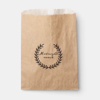 Midnight Snack Wedding Favor Bags Favour Bags