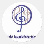 Midnight Sounds Round Stickers