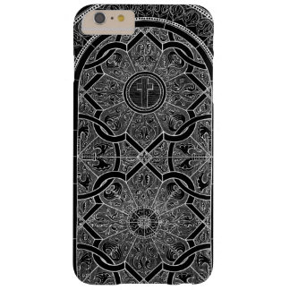 Midnight Stained Glass Black Barely There iPhone 6 Plus Case
