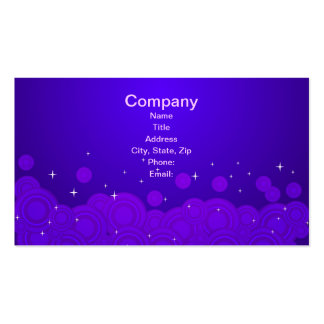 Midnight Stars & Pink Clouds Pack Of Standard Business Cards