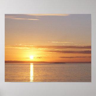 Midnight Sun in Iceland Poster