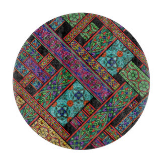 Midnight Sun Stained Glass Chopping Board