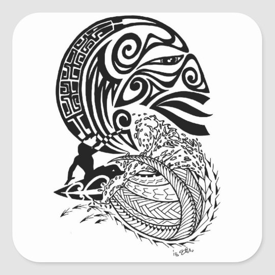 Midnight Surf Square Sticker