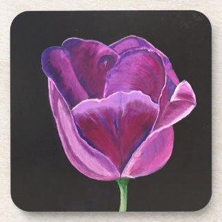 Midnight Tulip Square Coaster Set