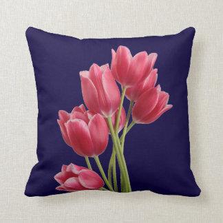 Midnight Tulips Cushion
