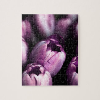 Midnight Tulips Jigsaw Puzzle