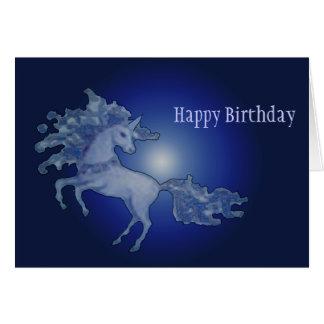 Midnight Unicorn Card