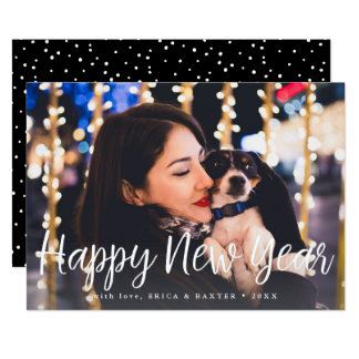 Midnight Wish | 2017 Happy New Year Photo Card