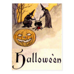 Midnight Witching(Vintage Halloween Card) Postcard