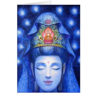 Midnight Zen Meditation Kuan Yin Greeting Cards